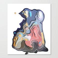 Little pervert  kissing the lady s nipple Canvas Print