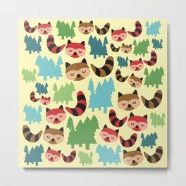 The Bandit Raccoons Metal Print