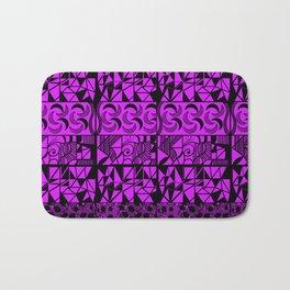 Purple Geometric Bath Mat