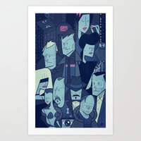 blade runner Art Prints featuring Blade Runner by Ale Giorgini