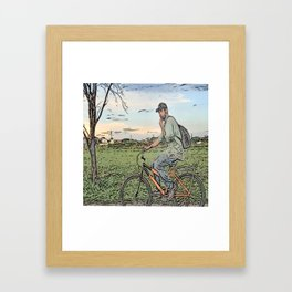 After day work Framed Art Print