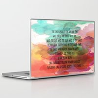 kerouac Laptop & iPad Skins featuring Kerouac Watercolour: by NomadicArt