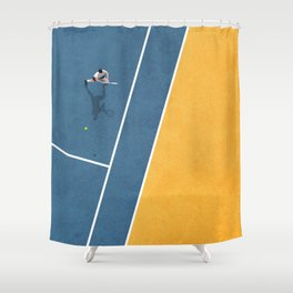 Tennis Player Shower Curtain