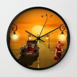Nostalgia road Wall Clock