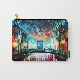 Tardis With Beautiful Starry Night Carry-All Pouch