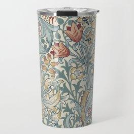 William Morris Vintage Golden Lily Soft Slate & Manilla Travel Mug