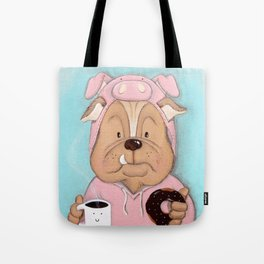 Bulldog Portrait Tote Bag