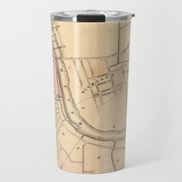 Vintage Map of New Brunswick NJ (1872) Travel Mug