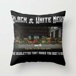 The Black & White Last Supper Throw Pillow