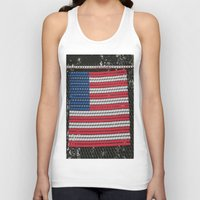american flag Tank Tops featuring American Flag by Photaugraffiti