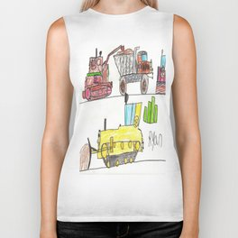 Construction Frenzy Biker Tank