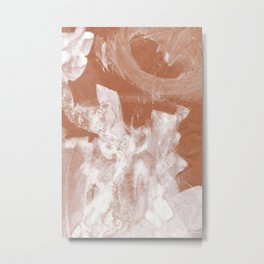Earthy and white abstract Metal Print