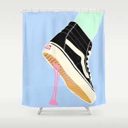 BUBBLE GUM NEVER DIES Shower Curtain
