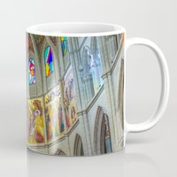 real madrid Mugs featuring Almudena Cathedral, Madrid by Svetlana Korneliuk
