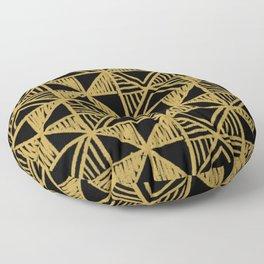 UrbanNesian Black and Gold Design Floor Pillow