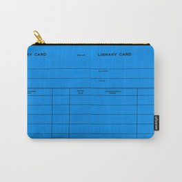 Library Card BSS 28 Blue Carry-All Pouch