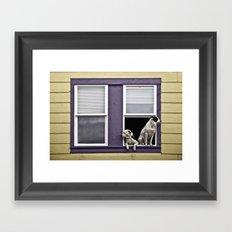 Window Watchers Framed Art Print