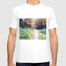 The South Road. MEDIUM White Mens Fitted Tee