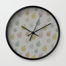 Falling leaves with silver rain Wall Clock