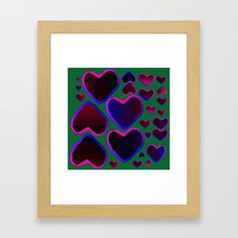 Heart in the countryside Framed Art Print