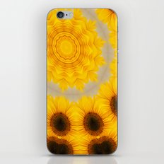 Sunflower and Bee Abstract iPhone & iPod Skin