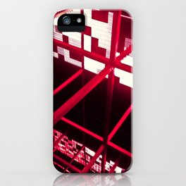 Red Structure iPhone Case