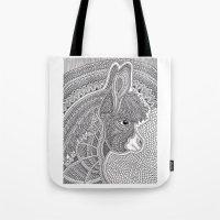 donkey Tote Bags featuring Donkey by Olya Goloveshkina