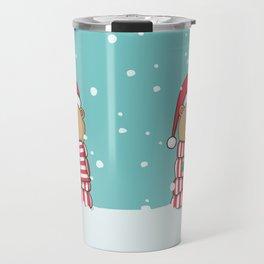 Christmas Teddy bear Travel Mug