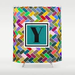 Y  Monogram Shower Curtain