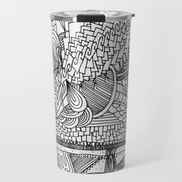 Abstract Pattern Clump Travel Mug