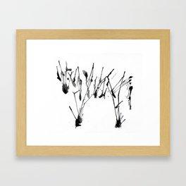 zebra ink splatter Framed Art Print