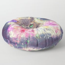Space Owl with Spice Floor Pillow