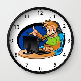 Monkey and the computer Wall Clock