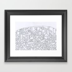 Costal City Framed Art Print