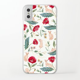 Ramona Poppy off-white Clear iPhone Case
