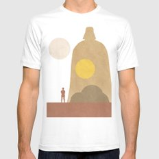 A New Hope Movie Poster MEDIUM White Mens Fitted Tee