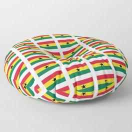 Flag of Ghana -Ghanaian,accra,kumasi,Akans,Dagbani,Tamale,Gold coast,Ashanti Floor Pillow