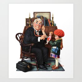 Doctor and Doll Art Print