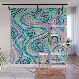 Zakiaz Peacock Swirl Wall Mural