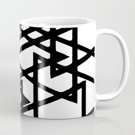 Interlocking Black Triangles Artistic Design Coffee Mug