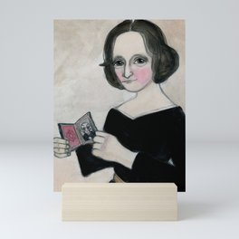 Mary Shelley and the Monster Mini Art Print