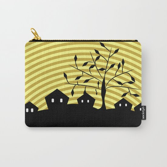 Quiet village at night Carry-All Pouch