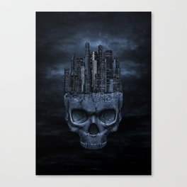 Gothic Skull City Canvas Print