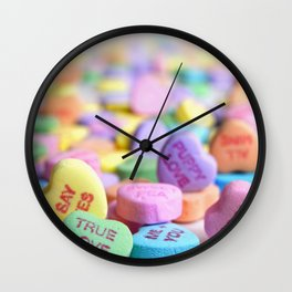 Valentine's Day Candy Hearts Wall Clock