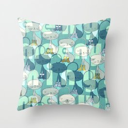 eeny, meeny, miny, meow! Throw Pillow