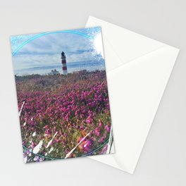 Lighthouse - paint graphic Stationery Cards