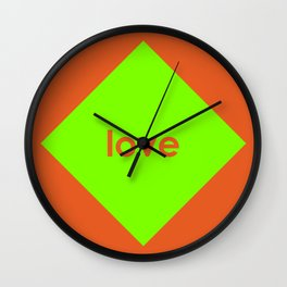 Love Diamond Wall Clock