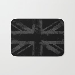 Grey Grunge UK flag Bath Mat