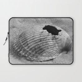 broken shell, black and white Laptop Sleeve