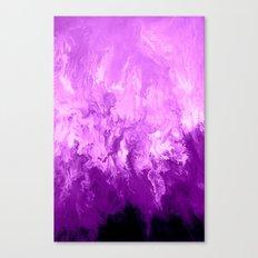 Purple Fluid Art Canvas Print